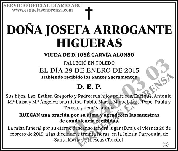 Josefa Arrogante Higueras